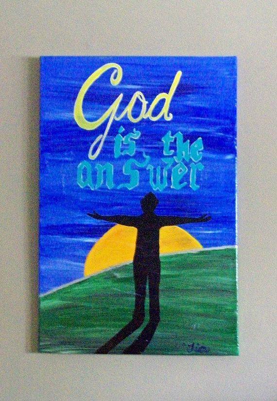 Inspirational Canvas Art  Christian Art  16x20 by MadeByTheHearth, $45.00