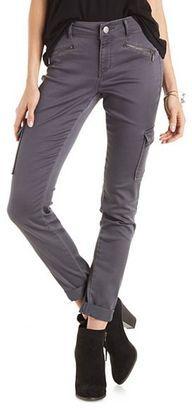 Refuge Skinny Cargo Pants - Shop for women's Pants - Charcoal Pants