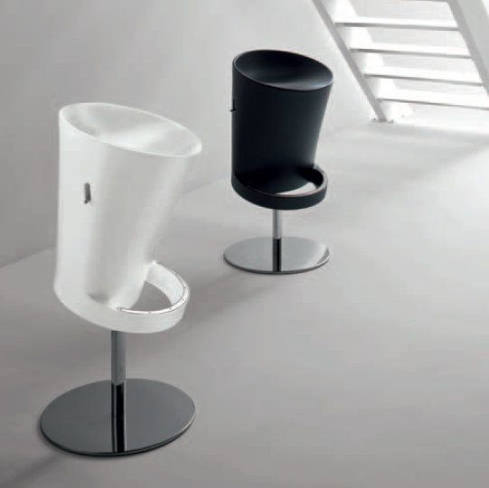 ZenEasy This amazing, unique stool is perfect if you love strange and original design. It is available in different colours, and we love the black and white combination, which could suit greatly any ultramodern house.