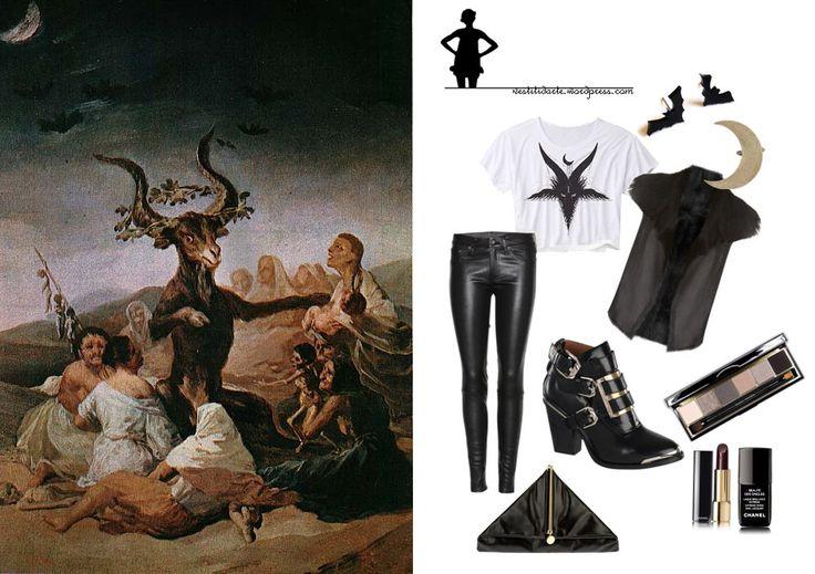 Inquietantissimo Goya - Sabba (il grande caprone) http://vestitidarte.wordpress.com/2013/11/08/inquietantissimo-goya/