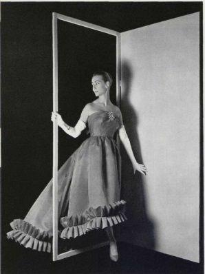1957 - Balenciaga evening gown