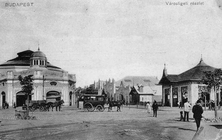 Angolpark, 1900 körül
