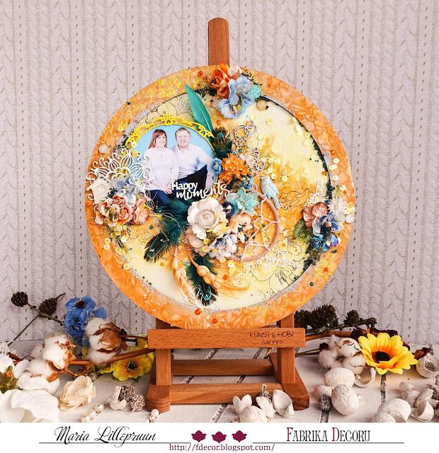 Mixed media canvas by Maria Lillepruun