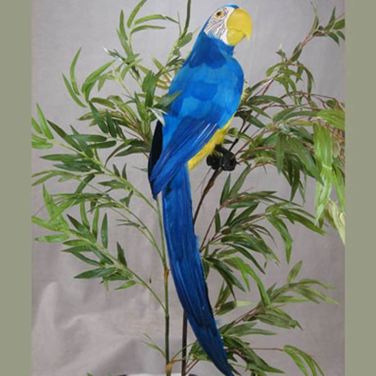 1 Pc, 28 Inch Parrot Assortment Perfect For Tropical Themes, Jimmy Buffett Fans/Tropical Decorations - Blue