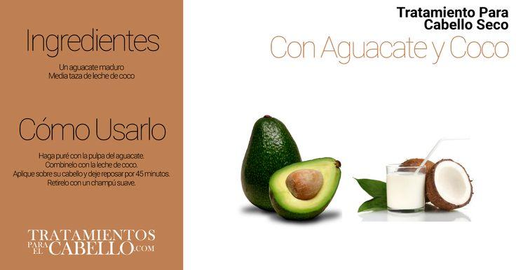Acondicionador Natural para el Cabello de Aguacate y Coco | Los Mejores 20 Tratamientos Caseros Para El Cabello Seco