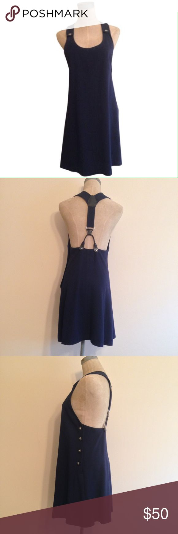 Vintage '90s [Ann Taylor] Navy Jumper, Size 2, EUC Vintage '90s [Ann Taylor] Navy Blue Jumper, Size 2, EUC  * Suspender straps with leather detailing * Side button * 65% Rayon * 35% Wool * Dry clean only  Trades Modeling ✅Please ask questions prior to purchasing. ✅Same day shipping if purchased by 2 pm EST Mon. - Fri. Ann Taylor Dresses