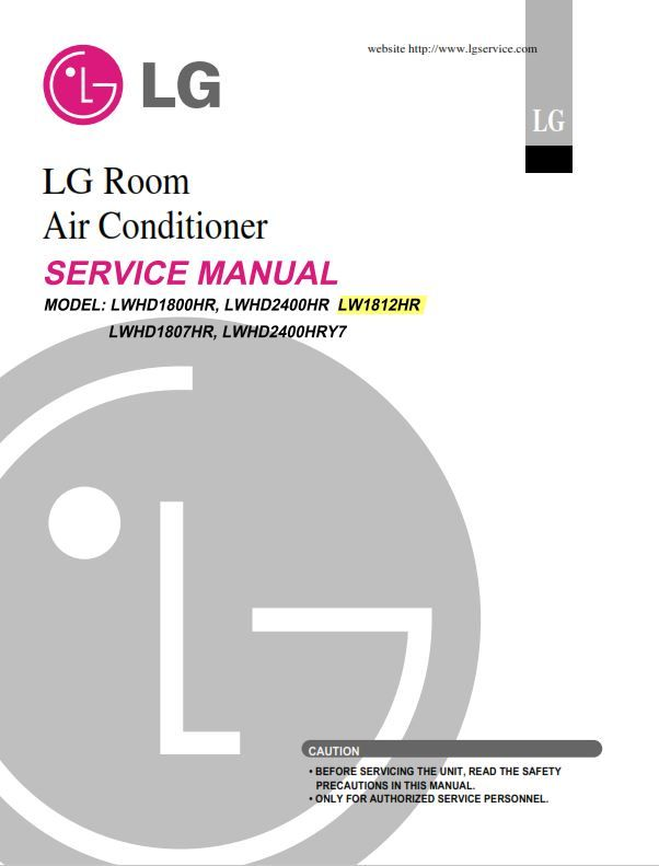 Lg Lw1812hr Air Conditioner Service Manual Air Conditioning System Manual Installation Instructions