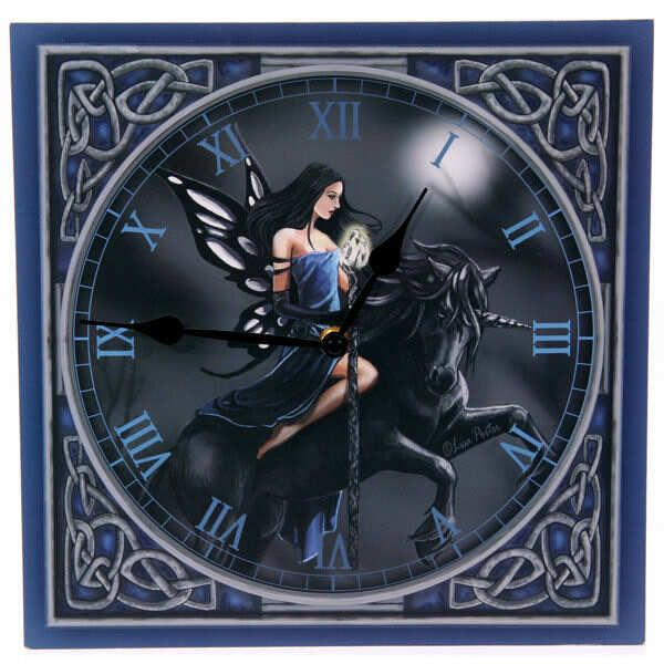 Blue Fairy Riding Unicorn Clock $38.00 http://newagecave.com/index.php?main_page=product_info&cPath=47&products_id=133