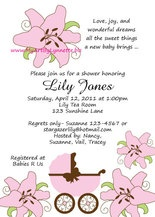 25 best lilly baby shower images on pinterest lily pad cupcake lily baby shower invitations filmwisefo