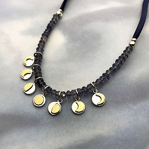 Jewelry Design Ideas :: Newest Designs, Make This Moon Phase Necklace With  Our Silver