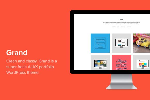 Check out Grand - clean AJAX portfolio by Tienvooracht on Creative Market