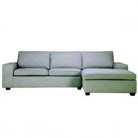 Trendhopper lecce bank A0000743 | 2,5 zits + divan | 100 stoffencollectie | Paris Light Grey