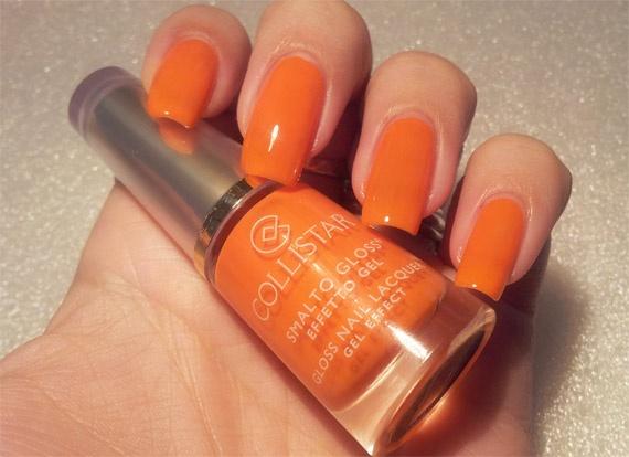 Collistar Gloss Nail Gel Effect no 542 Sunny Orange