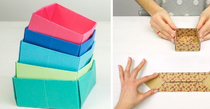Origami krabičky z papíru na dárky i drobnosti + video