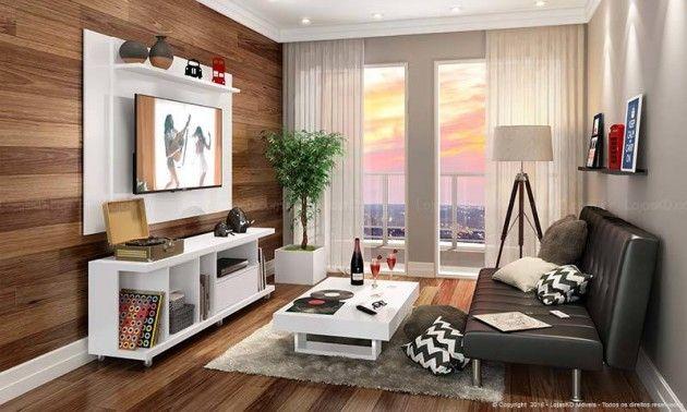 Apartamento Com Sala De Tv ~  Para Tv 55 no Pinterest  Painel tv 55, Rack de tv e Painel wall