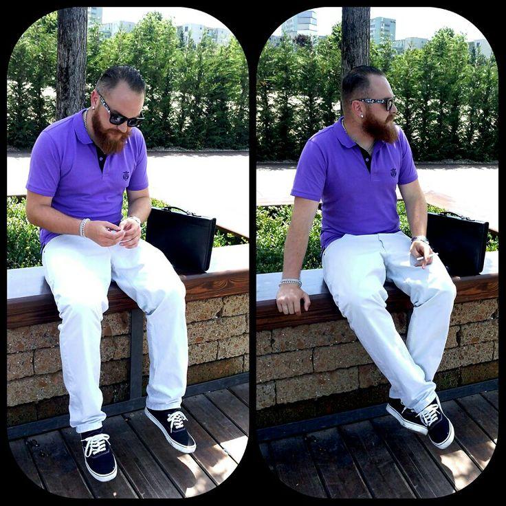 #beard #gentleman #casual #polo #selected #leecooper