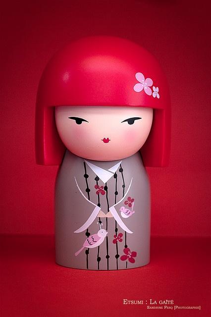 Pink kokeshi doll