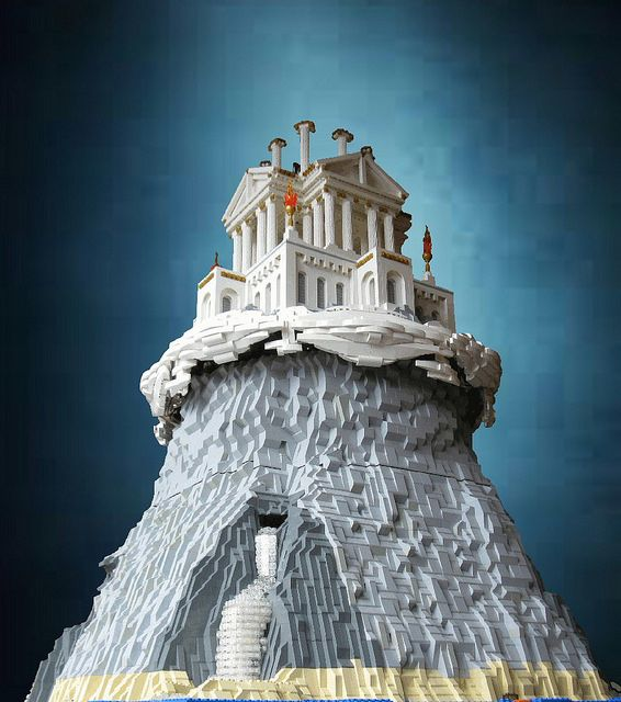 Mount Olympus in Lego by El Barto!, via Flickr