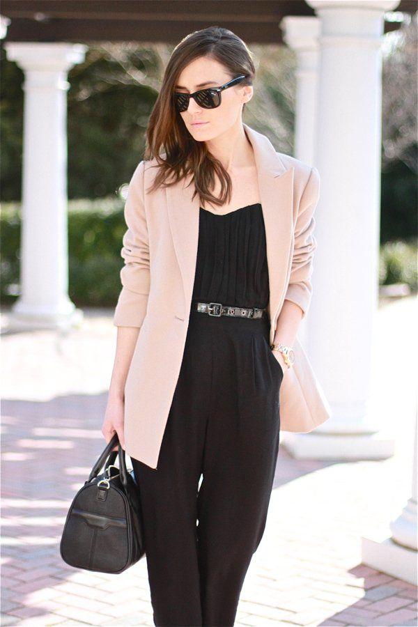 Best 25+ Black pant suit ideas on Pinterest   Women's 70s looks, Pantalones palazzo con lazo and ...