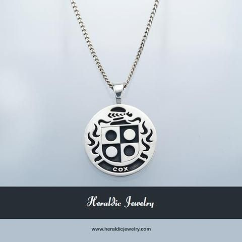 200 best family crest pendants images on pinterest family crest cox family crest pendant mozeypictures Choice Image