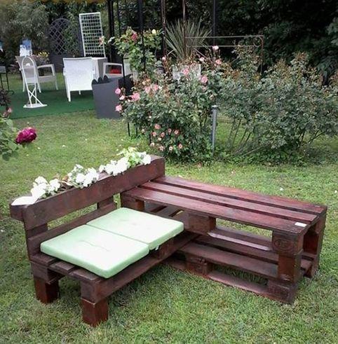 Muebles muebles complementos hechos con for Muebles de jardin con palets