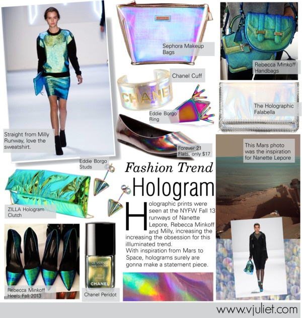 """Hologram Trend"" by julietav on Polyvore"
