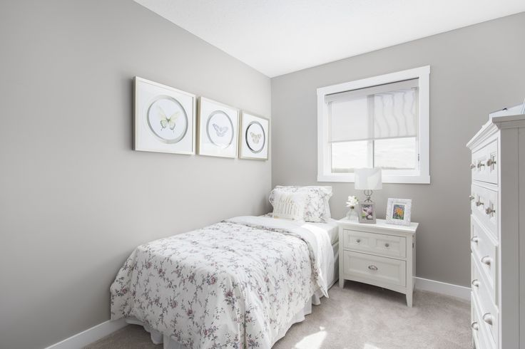 Bedroom in Creations by Shane Homes Samara II Duplex Showhome in Legacy in southeast Calgary #bedroom