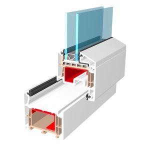 Profilé PVC salamander en 73 mm pour fenêtres double ou triple vitrage