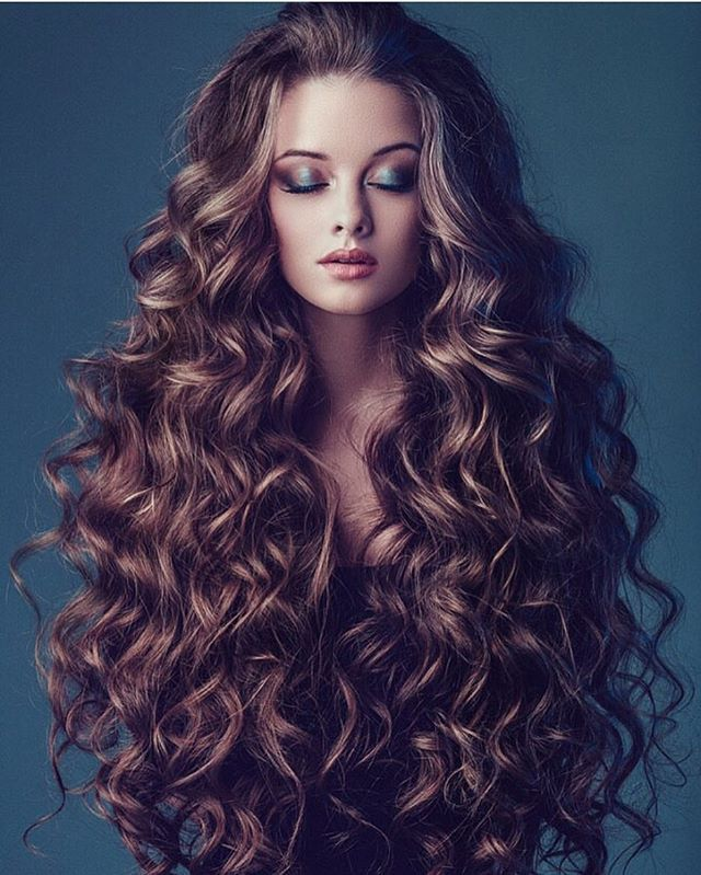 Curly Hair Long Style and very easy