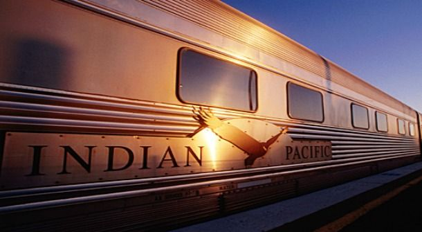 The Indian Pacific, which links Sydney and Perth across 4,352 kilometres of track, is world renowned for its scenic 65-hour journey that takes riders through Broken Hill, Adelaide, Cook, Kalgoorlie, and across the Nullarbor Plain.