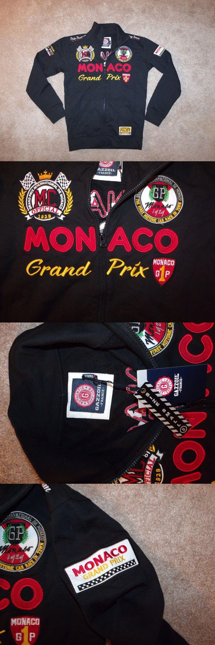 Racing-Formula 1 2876: Nwt Gazzoil F1 Racing Grand Prix Monaco Sponsors Black Zip Jacket Sz. S -> BUY IT NOW ONLY: $37.49 on eBay!