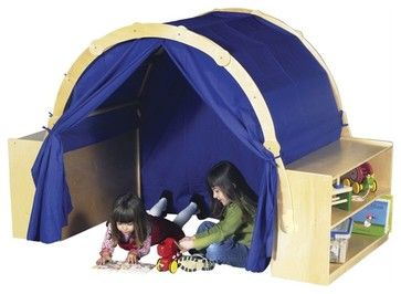 Guidecraft Birch Playhouse Hideaway with Bookshelves transitional-kids-products