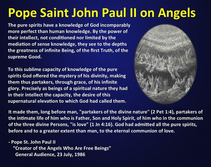 St. John Paul II on angels.