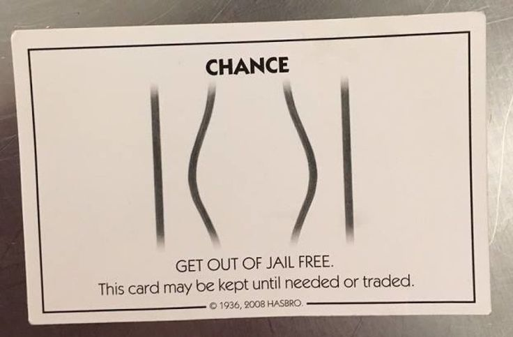 Man gives cop 'Get out of jail free' Monopoly card after arrest