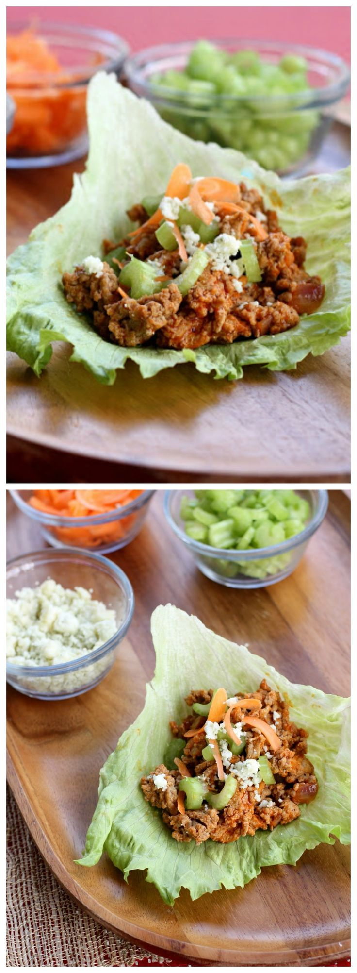 Buffalo Turkey Lettuce Wraps - One of our favorite healthy meals. the-girl-who-ate-everything.com