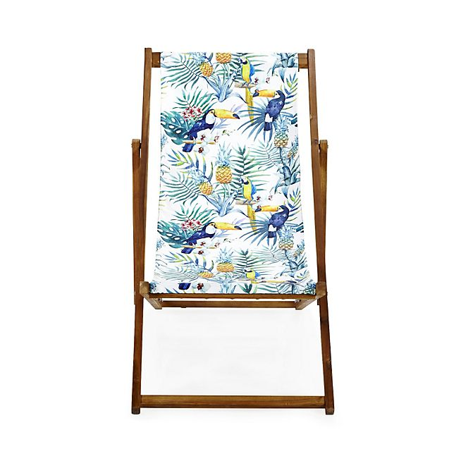 Tropicale Chilienne / Chaise longue de jardin motifs tropicaux jungle