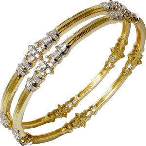 Gold n diamond elegant bangle