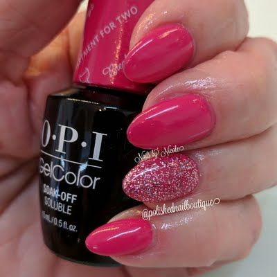 Preen.Me VIP Nicole C makes a girly statement with bubblegum nails created using her gifted  OPI #MyBreakfastAtTiffanys GelColor in Apartment for Two. Learn more about this gorgeous, salon-only shade by clicking through.