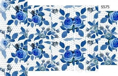 Слайдер дизайн голубые розы S575