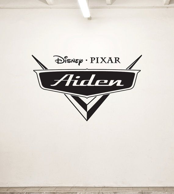 New Personalized Disney Cars Wall Vinyl Decal. by GoodShopBadShop, $29.99