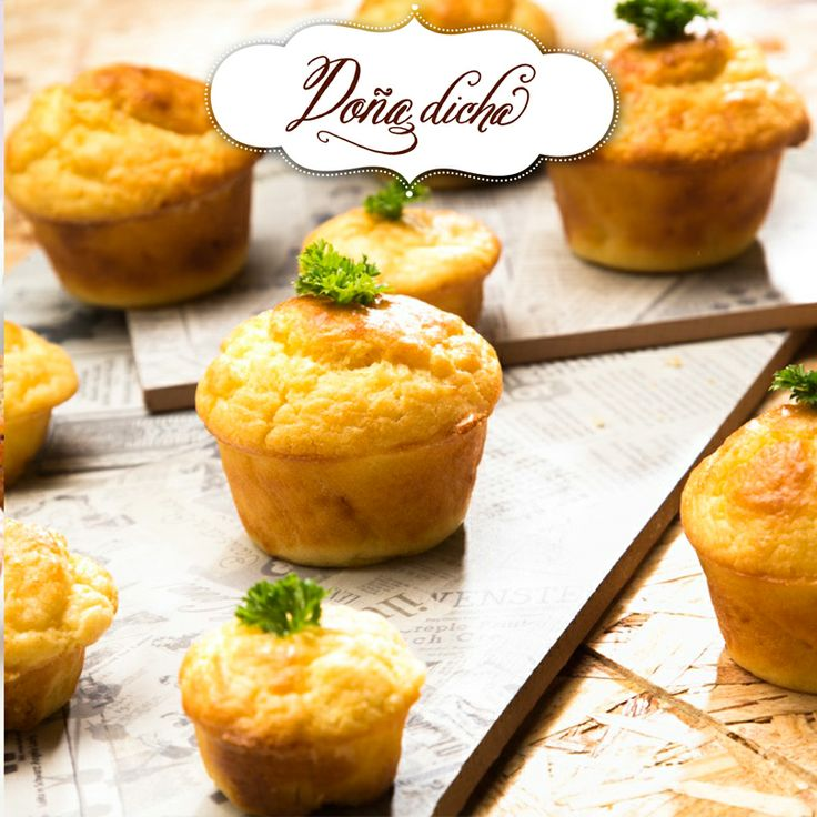 Muffins de queso y pollo.