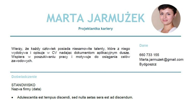 Tak może wyglądać Twoje CV. Pomogę Ci je napisać. https://www.facebook.com/cvprzykawie/