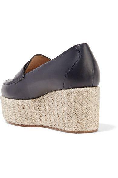 Gabriela Hearst - Brucco Leather Platform Loafers - Navy - IT36.5