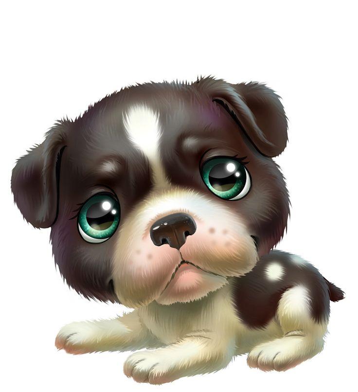 Картинки прикольных мультяшных собачек