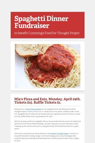 9 Best Spaghetti Dinner Fundraiser Images On Pinterest | Spaghetti