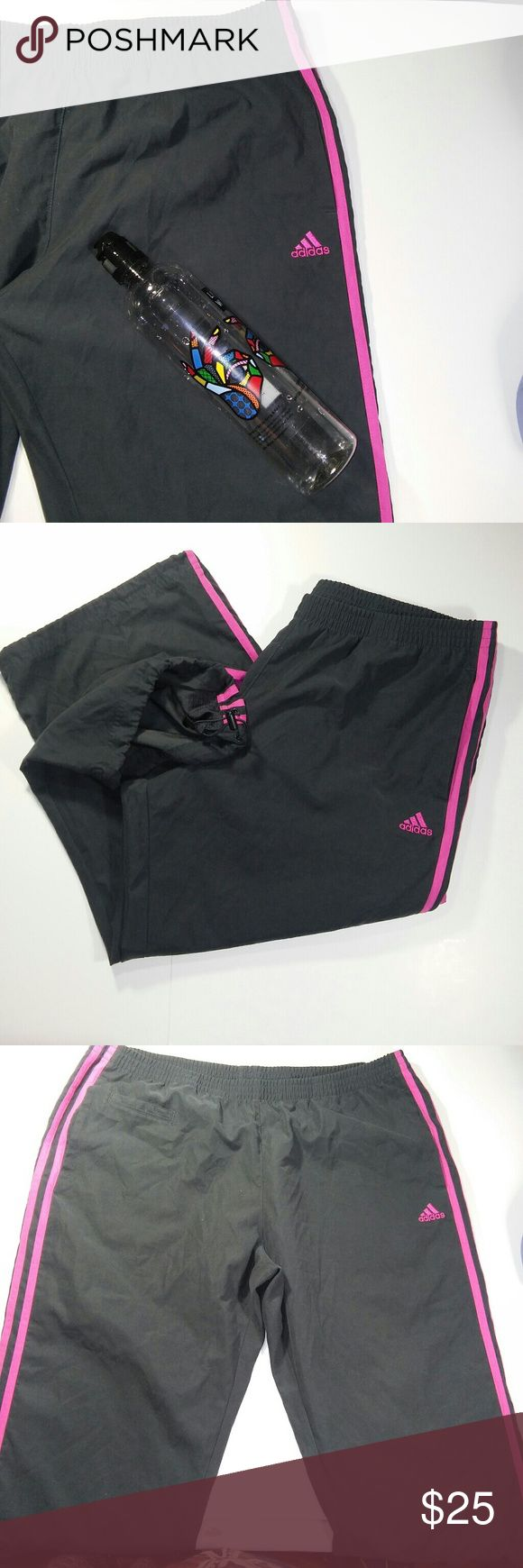 "Adidas Training Track Pants Brand:Adidas Color:pink/grey Size:L  Length:32"" Waist: 36"" Inseam: 23""  *NO LOW BALL OFFERS  *Will Review or Consider all offers *BUNDLE and $ave More *Top Rated Seller *Fast Shipment Always awesome packaging Adidas Pants Track Pants & Joggers"