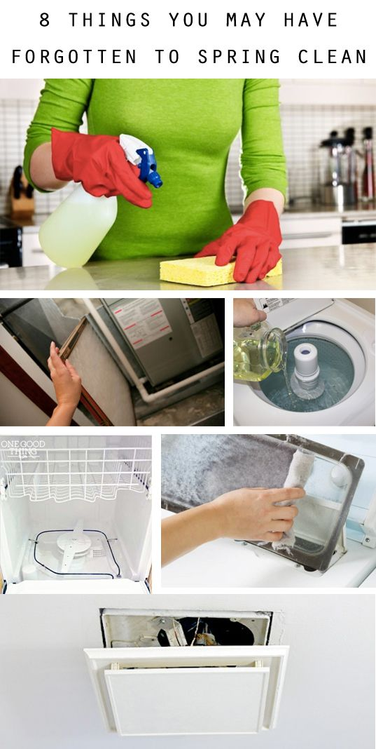 Spring cleaning is a great way to give your home a much-needed detox, but some things tend to get ignored year-round! Here are some of the top things in your home you might have forgotten!