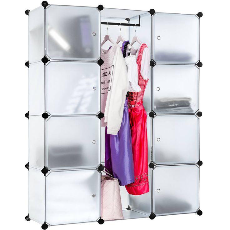 Steckregal 8 Boxen Mit Turen Inkl Kleiderstange Wardrobe DesignCabinetLiving RoomsOrganize