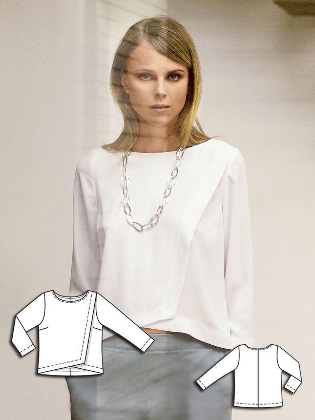 BurdaStyle Wrap Blouse 04/2014 #115 http://www.burdastyle.com/pattern_store/patterns/wrap-blouse-042014