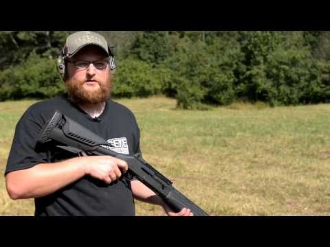 Benelli M4 with ATI Raven Stock and Forend - YouTube